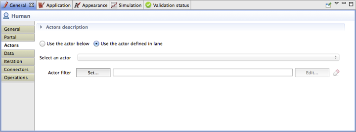 Image 3.6 - Human Task Actors Definition