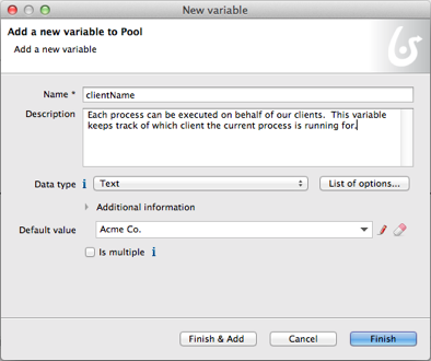 Image 3.16 – New Variable Dialog