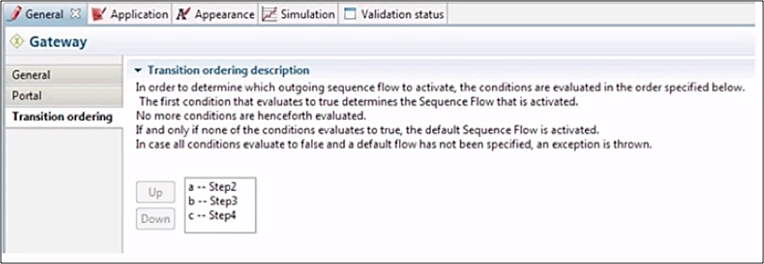 Image 3.24 -  User Specifies the transition order